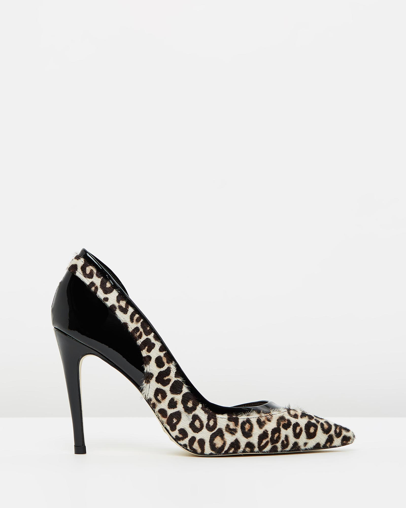 Lyn - Patent Black & Leopard Fur