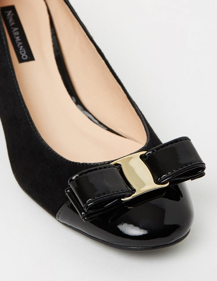 Georgie - Black Suede with Patent