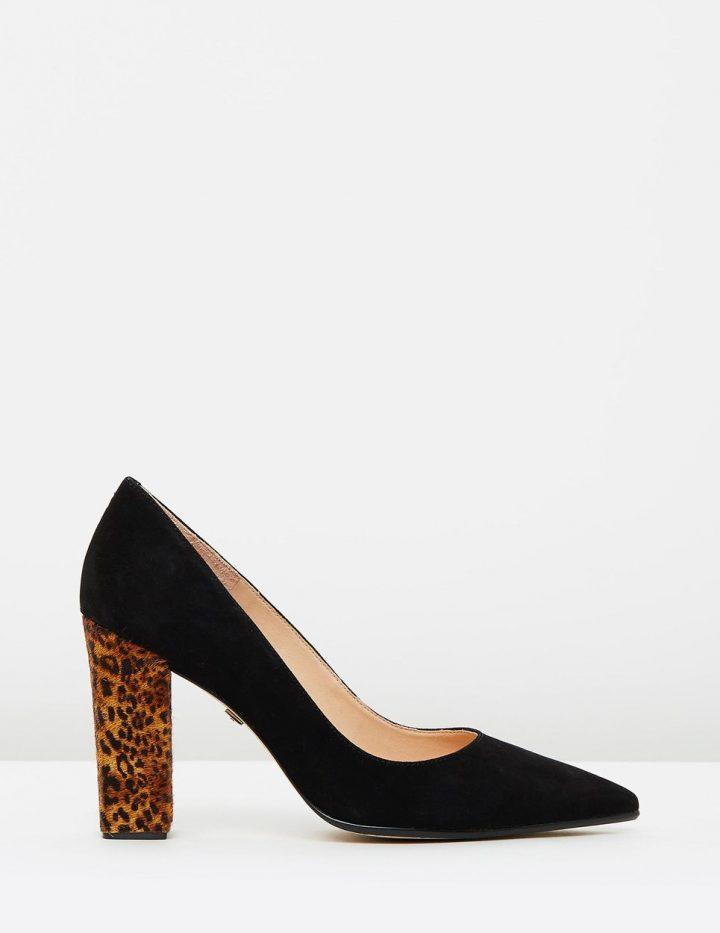 Kayla - Black Suede & Leopard