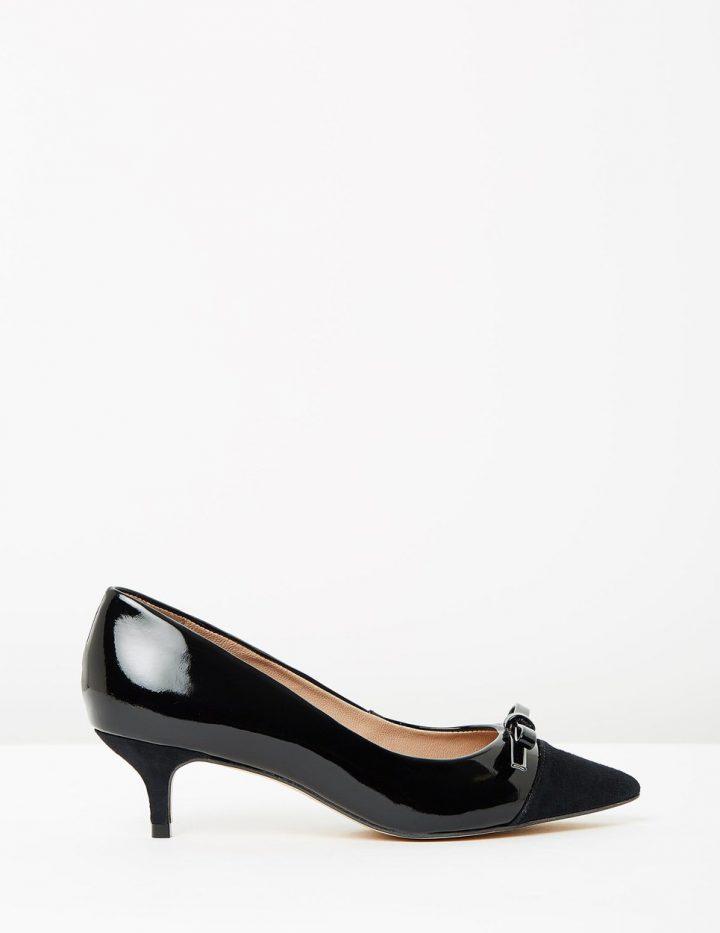 Zanna - Black Patent & Suede