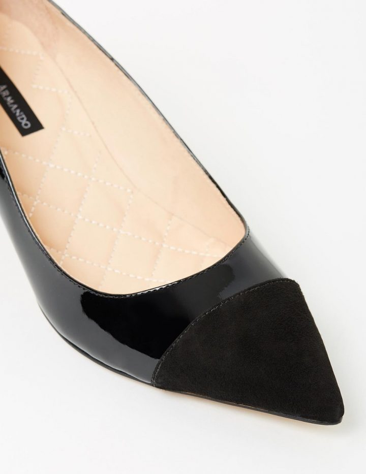 Ophelia - Black Suede & Patent