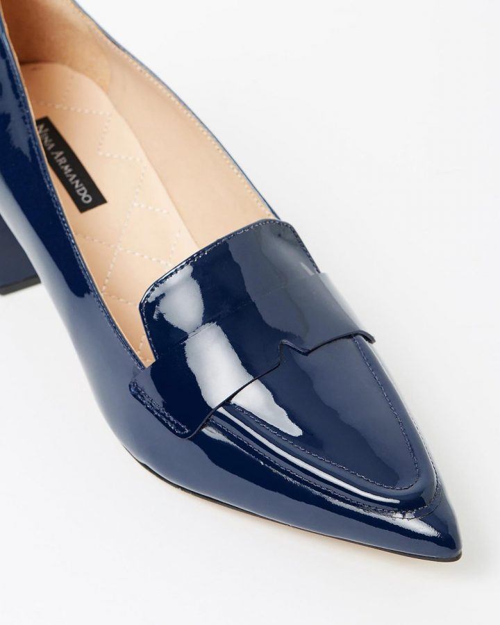 Lesley - Navy Patent