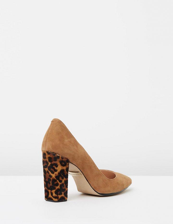 Kayla - Tan Suede & Leopard