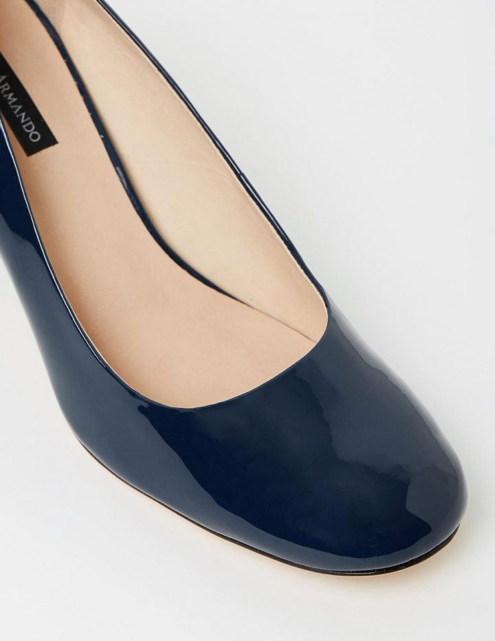 Abbey - Navy Patent