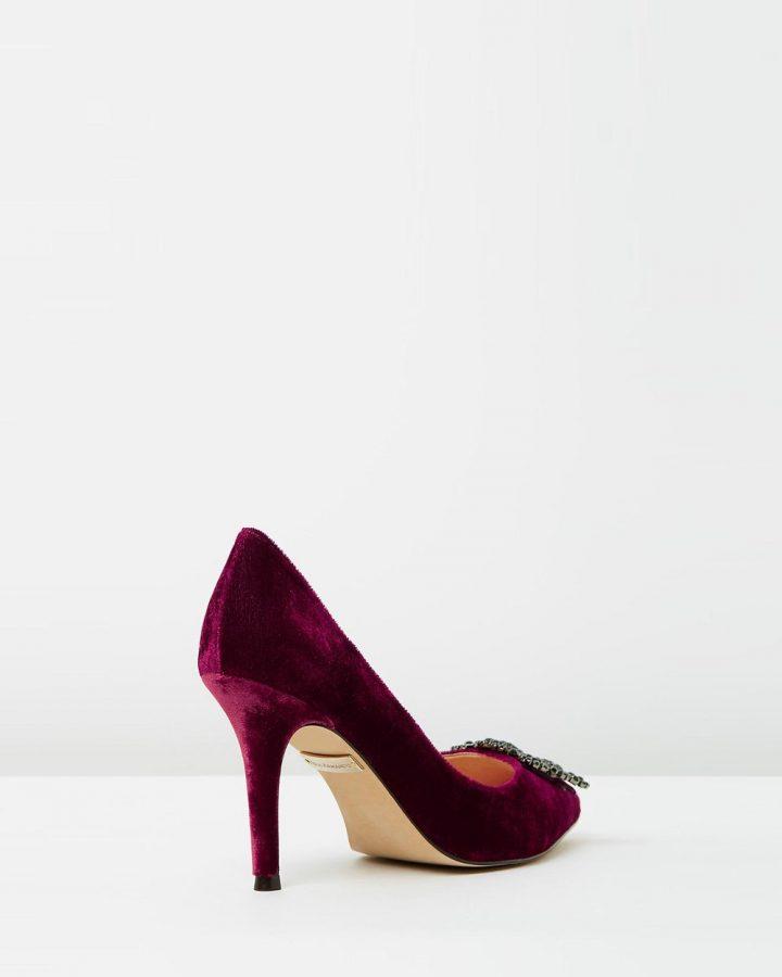 Alvina - Burgundy Velvet
