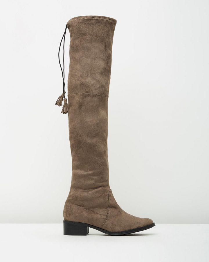 Piper - Taupe Suede