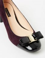 Georgie - Merlot suede and Black Patent