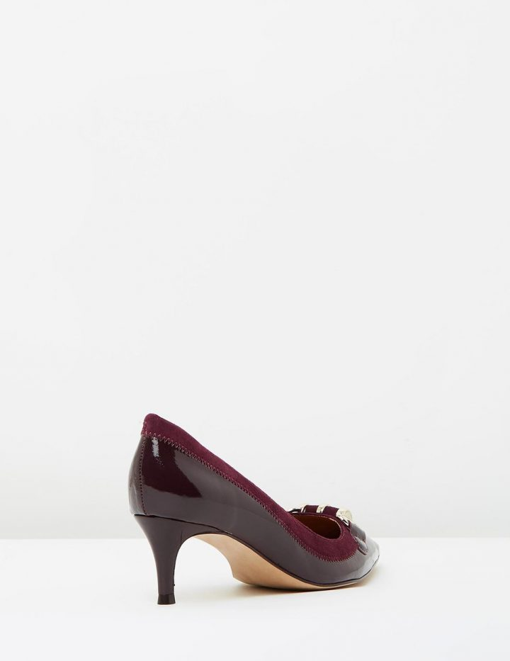 Rebecca - Merlot Patent With Suede