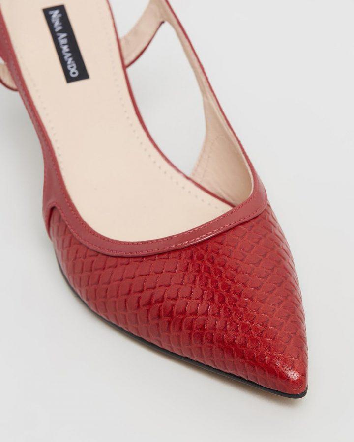 Luciana - Red & Snakeskin