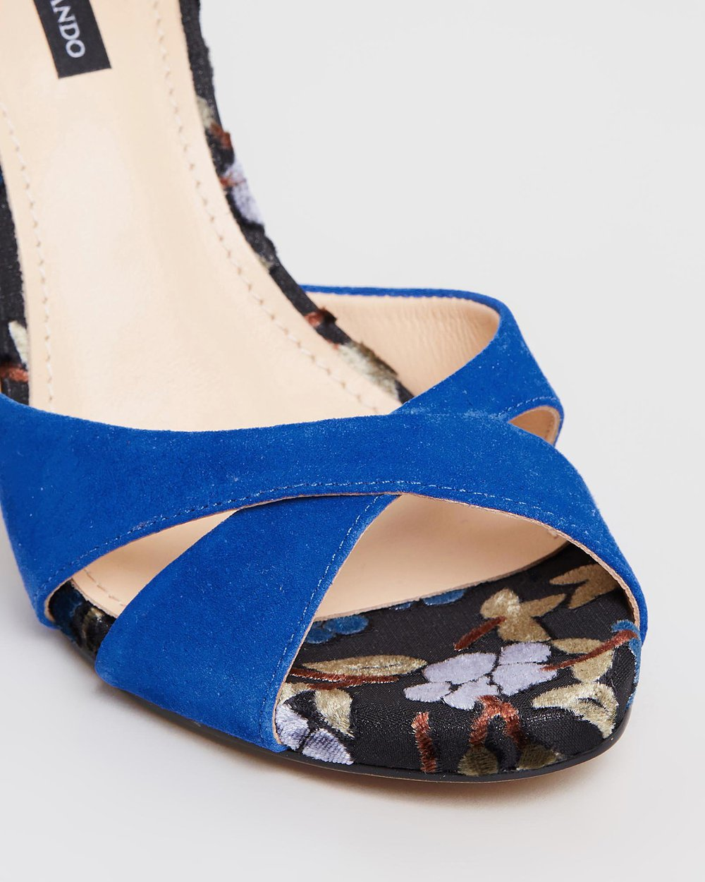 Mara - Blue with Floral Heel