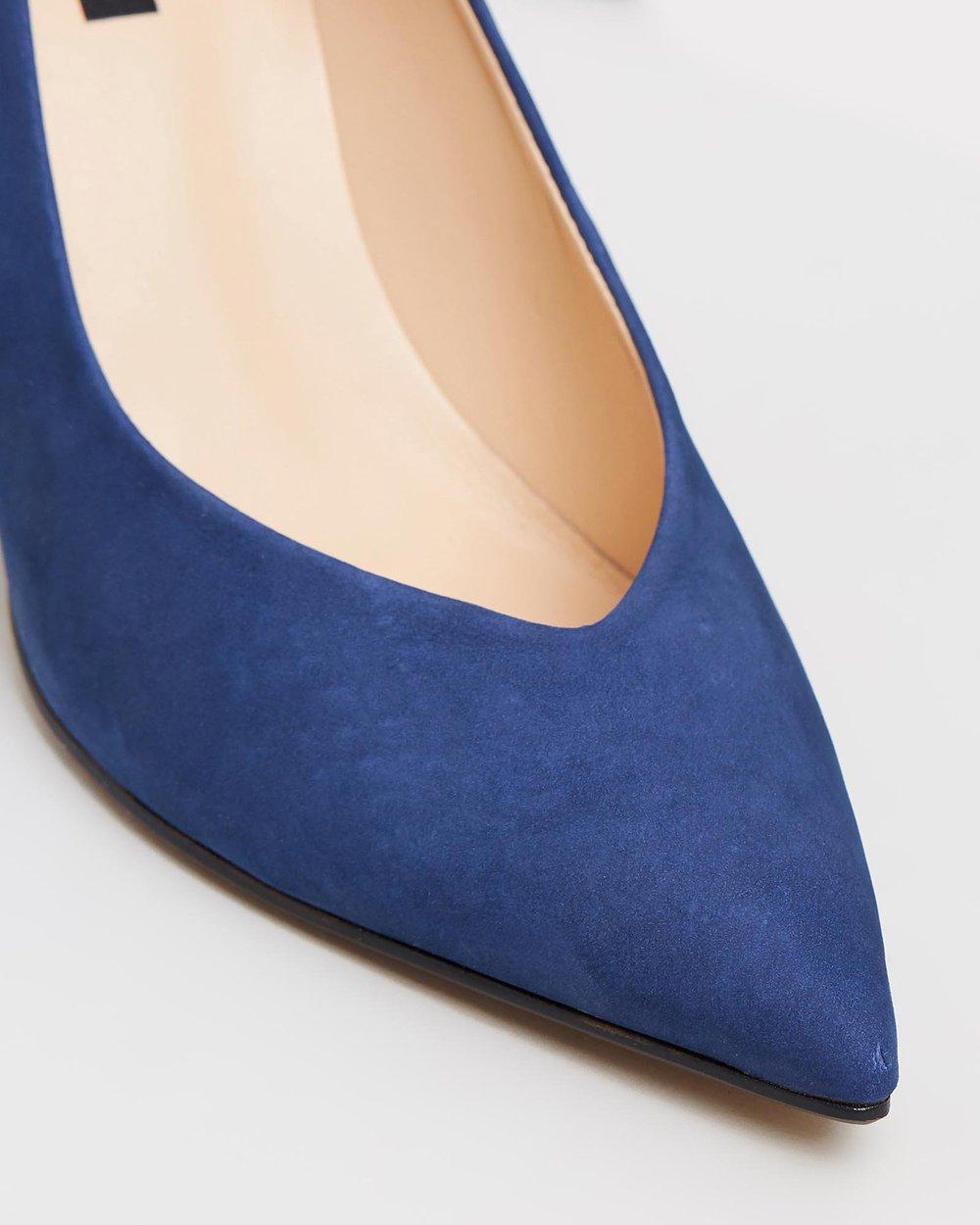 Susan - Blue Suede & Floral Multi