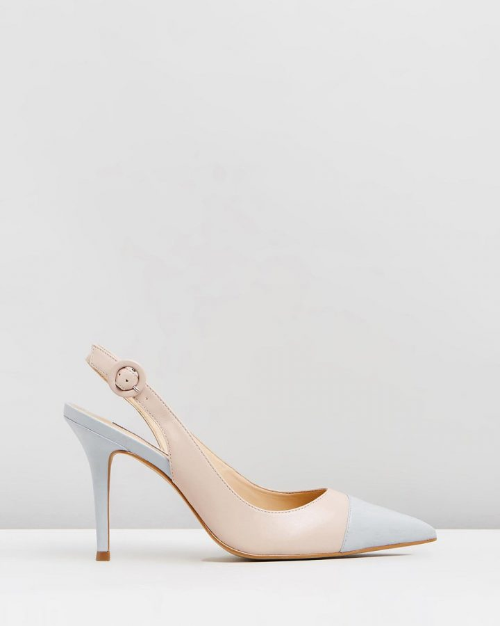 Lacey - Nude & Light Blue