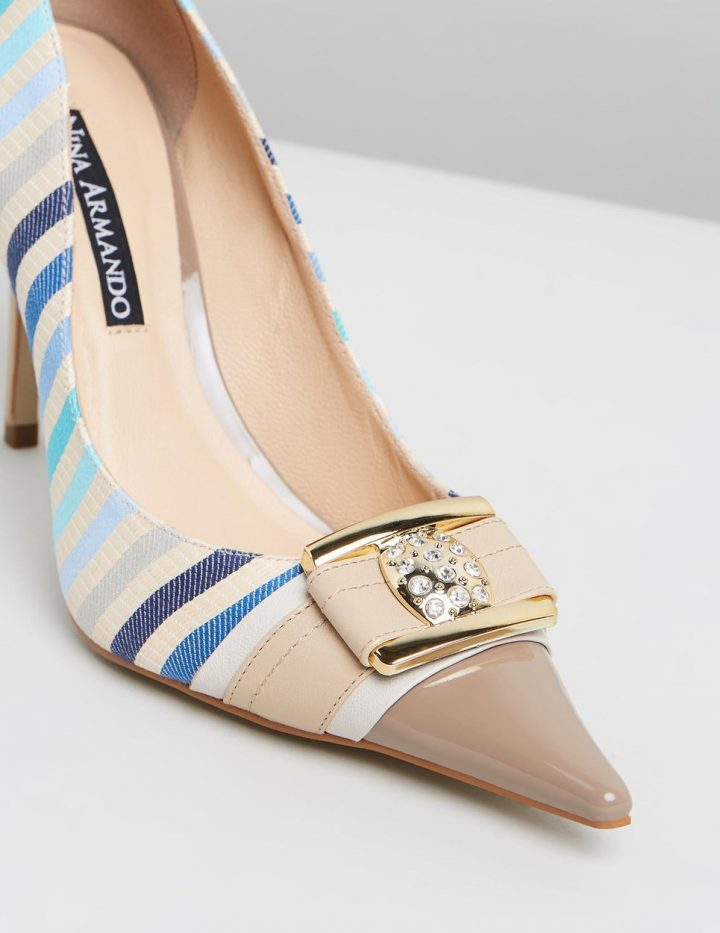 Bianca - Nude with Multi Stripes