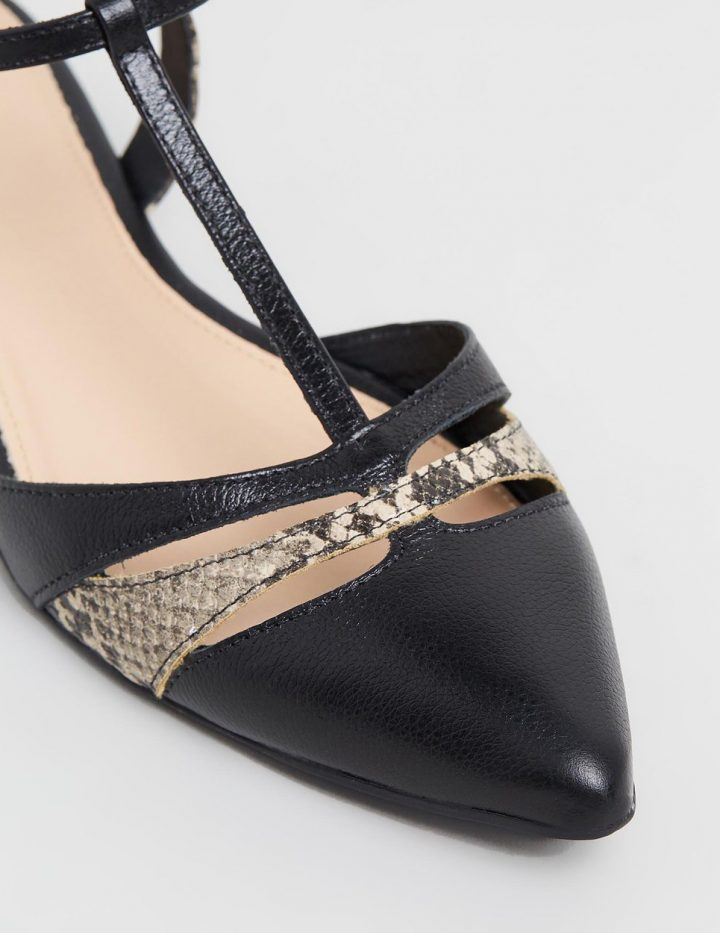 Eloise - Black & Snakeskin