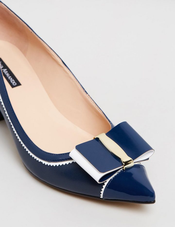 Charis - Navy & White
