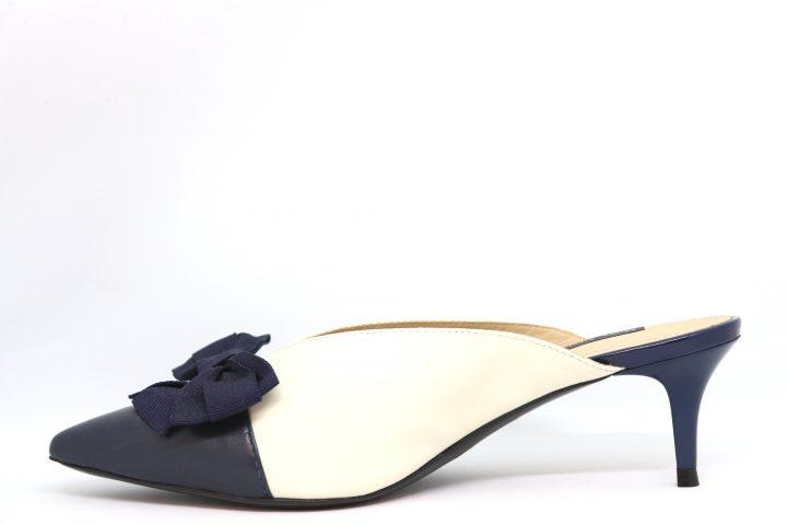 Zara - Navy & Off White