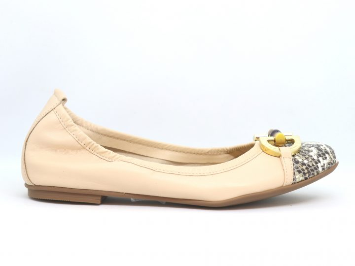 Suri - Beige With Snakeskin